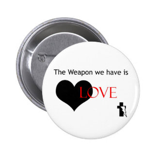 El arma es botón del amor pins
