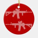 El arma igual endereza ar15 ornamentos de navidad