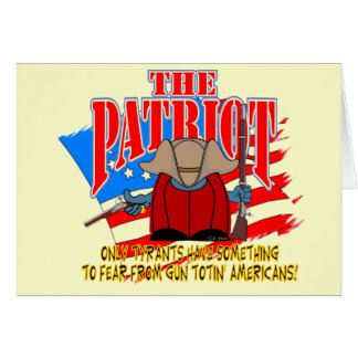 El arma Totin del patriota Tarjeta De Felicitación