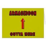 El Armageddon Outta aquí termina mercancía de las  Tarjeta