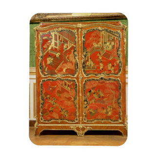 El Armoire con la laca roja del Chinoiserie cuatro Imán Rectangular