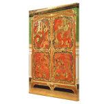 El Armoire con la laca roja del Chinoiserie cuatro Lona Estirada Galerías
