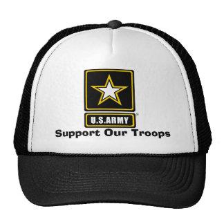 el armylogotranspbkgd, apoya a nuestras tropas gorros bordados