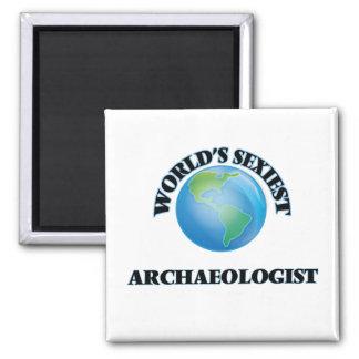 El arqueólogo más atractivo del mundo imanes de nevera