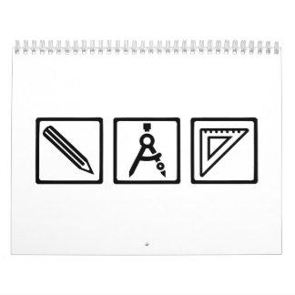 El arquitecto equipa el compás calendario