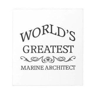 El arquitecto marino más grande del mundo libreta para notas