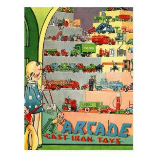 El arrabio del vintage del kitsch 30s de la arcada postal