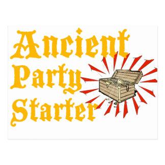 El arrancador antiguo del fiesta piratea humor del tarjeta postal