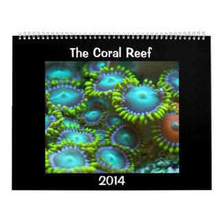 El arrecife de coral calendario