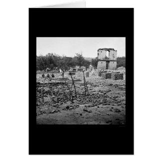 El arsenal del estado arruina Richmond 1865 Tarjeta De Felicitación