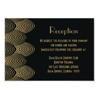 El art déco de los años 20 del vintage horneó a la invitación 8,9 x 12,7 cm