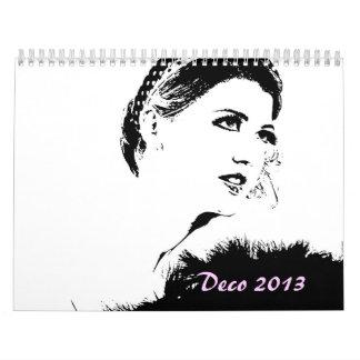 El art déco inspiró el calendario 2013