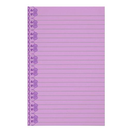 El art déco púrpura alineó los efectos de escritor  papeleria
