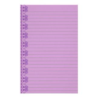 El art déco púrpura alineó los efectos de papeleria de diseño