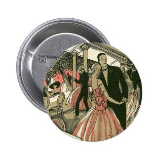 El art déco que se casa, recienes casados del chapa redonda 5 cm