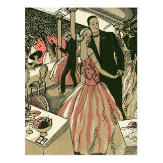 El art déco que se casa, recienes casados del tarjetas postales