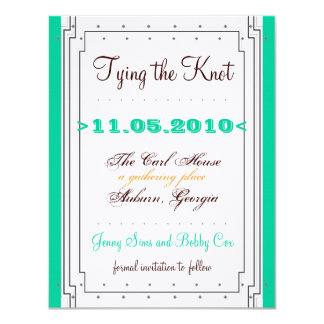 El art déco resuelve diseño intemporal de Jenny Invitación 10,8 X 13,9 Cm