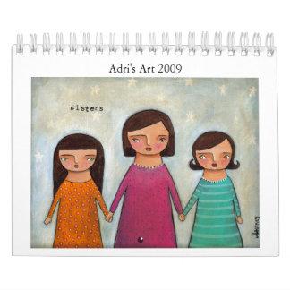 El arte 2009 de Adri del calendario