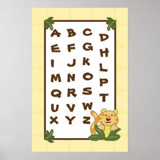 el arte ABC del cuarto de niños 16x24 traza a bebé Posters