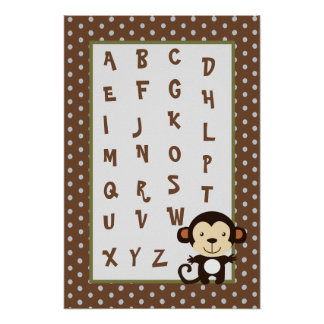 el arte ABC del cuarto de niños 16x24 traza el Póster