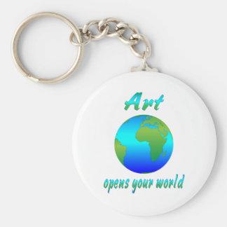 El ARTE abre los mundos Llaveros Personalizados