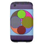 El arte abstracto circunda el caso del iPhone 3 iPhone 3 Tough Cárcasa