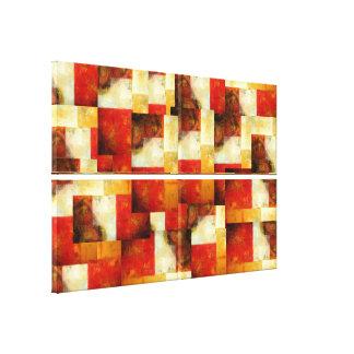 El arte abstracto creativo envolvió las lonas fija lienzo envuelto para galerias