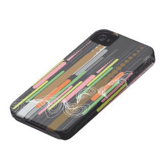 El arte abstracto de Digitaces raya la casamata iPhone 4 Case-Mate Protectores