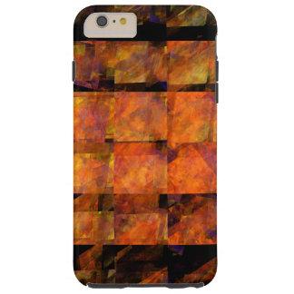 El arte abstracto de la pared funda resistente iPhone 6 plus