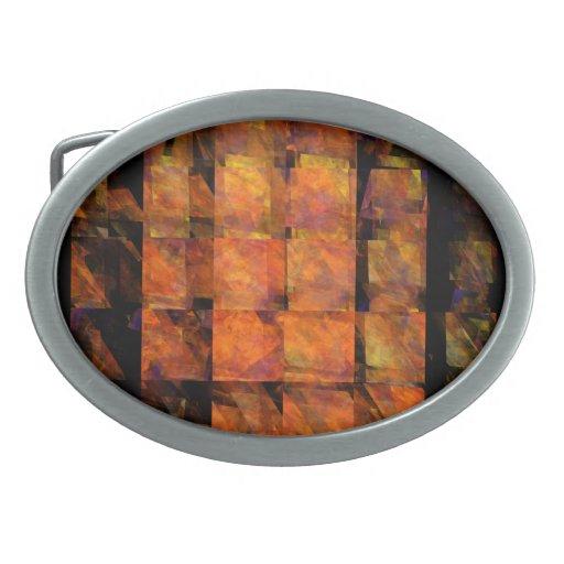 El arte abstracto de la pared hebilla de cinturón oval