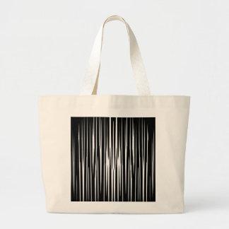 El arte abstracto de las rayas de la cebra del bolsa tela grande