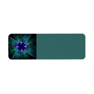 El arte abstracto del ojo etiqueta de remite