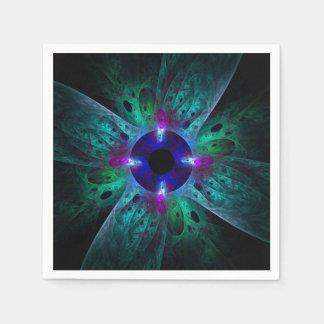 El arte abstracto del ojo servilleta de papel