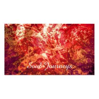 El arte abstracto remolina oro púrpura rojo tarjetas de visita