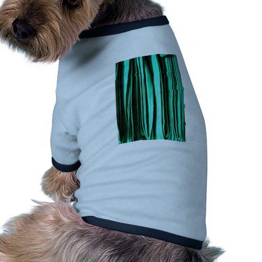 El arte abstracto verde agita los colores de Digit Camisetas De Mascota