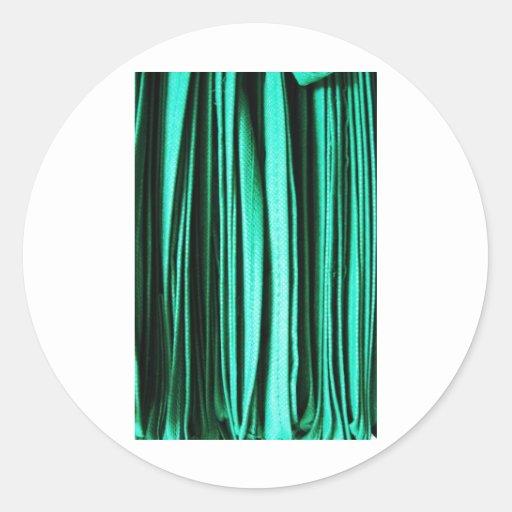 El arte abstracto verde agita los colores de pegatina redonda