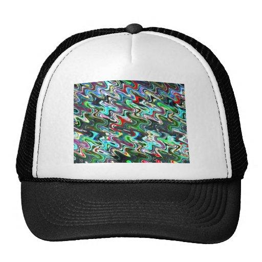 El arte agita para el estado de ánimo feliz gorras de camionero