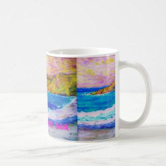 el arte agitado del mar tazas de café