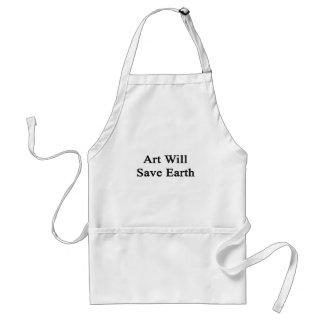 El arte ahorrará la tierra delantal