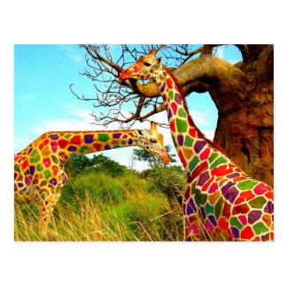 El arte aumentó jirafas postales