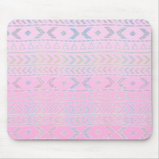 El arte azteca rosado lindo influenció el modelo tapetes de ratones
