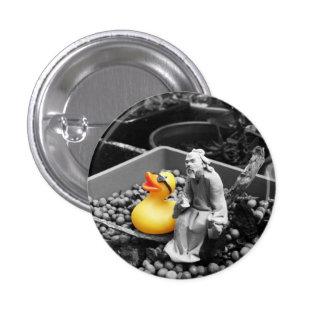 """""""El arte botón de goma del pato del zen"""" (pequeño)"""