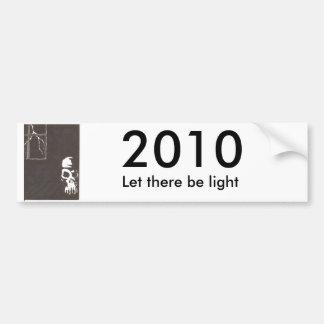 el arte carda 003, 2010, dejó allí para ser luz pegatina para auto