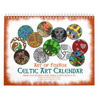 El arte céltico diseña el calendario de pared