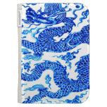 El arte chino azul del florero de Antiqie del drag