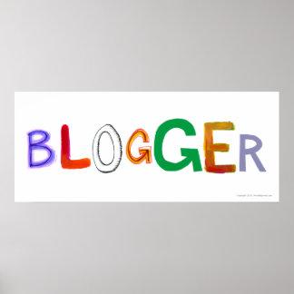 El arte colorido de la diversión del Blogger Póster