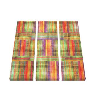 El arte contemporáneo raya el panel del modelo tre impresión en lona estirada