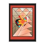 El arte cristiano de la zarza ardiente en lona impresión en lona estirada