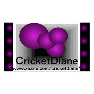 El arte de CricketDiane y diseña la tarjeta 2014 d Tarjetas De Visita