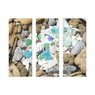 El arte de cristal del mar de la playa imprime impresión en lona estirada